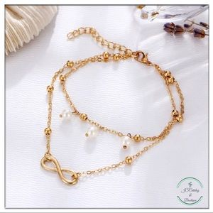 🌸3 FOR $15🌸 Infinity Alloy Chain Pearly Anklet